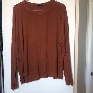 Bronze orange Brandy Melville long sleeve shirt